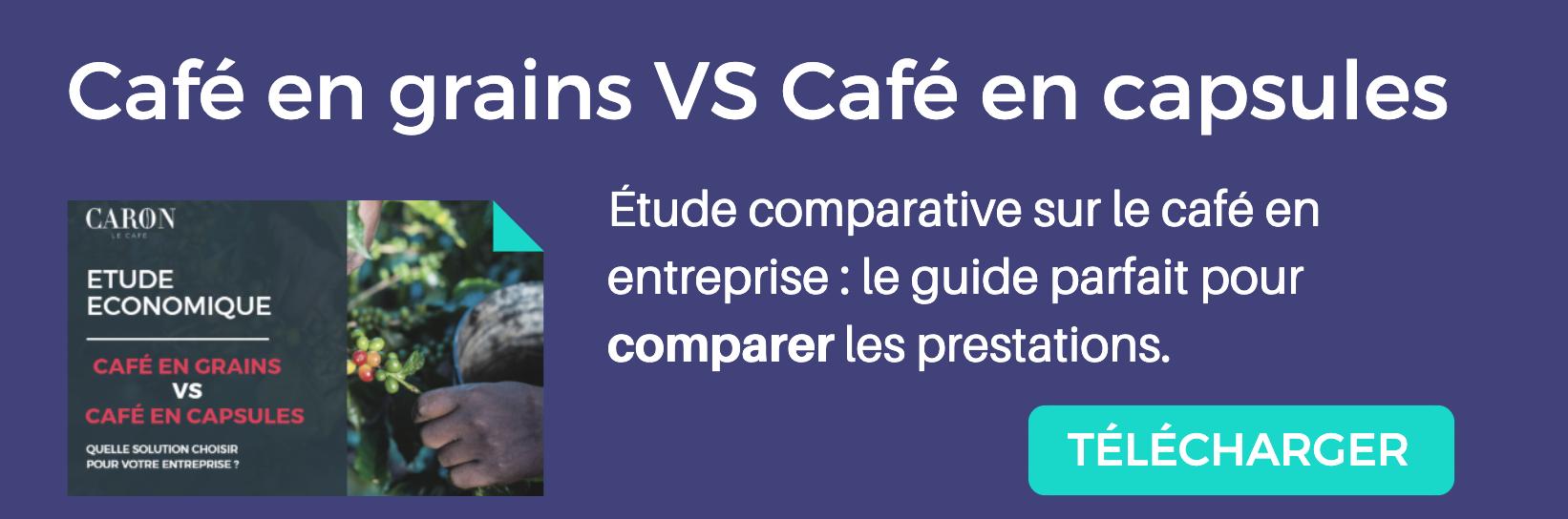 étude comparative café en grains vs café en capsules