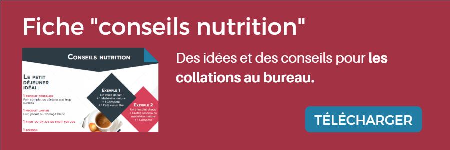 """Fiche """"conseils nutrition"""""""