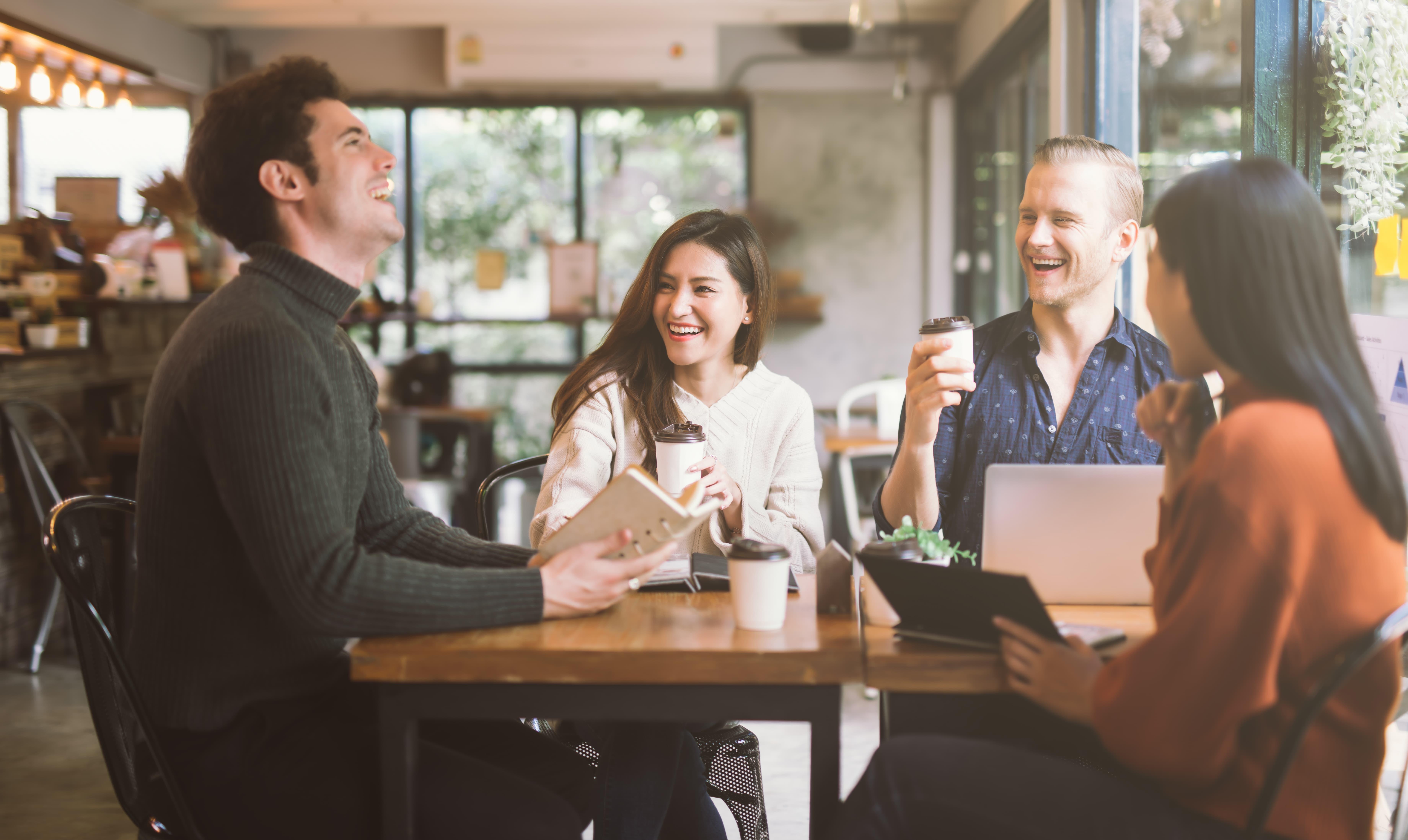 Pause café avec collègues